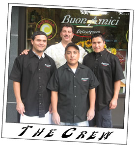 workers at Buon Amici Deli